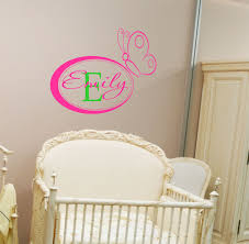 Nursery Name Wall Decals by Personalized Name Wall Decals Name Wall Decal Girls Nursery