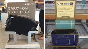 carry on size united the new thin line between carry on and checked bags wsj