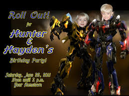Personalized Birthday Invitation Cards Transformers Birthday Invitations U2013 Gangcraft Net