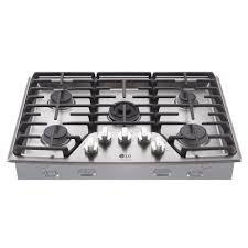 Gas Countertop Range Kitchen Cooktops Lg Studio 30 In Gas Cooktop In Stainless Steel With 5 Burners