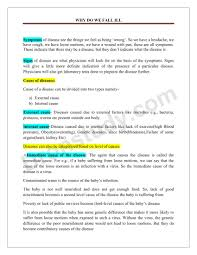 chapter notes why do we fall ill class 9 science book