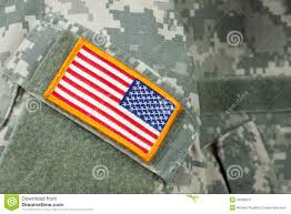 Army Flag Pictures American Flag Patch On Army Combat Uniform Stock Photo Image