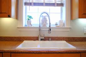 fabulously vintage new faucet in the kitchen