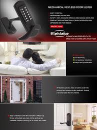 home designer pro hardware lock elemake left handed keyless door lock keypad entry mechanical