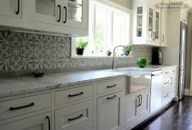 moroccan tile kitchen backsplash white grey kitchen decoration using grey patterned moroccan tiles
