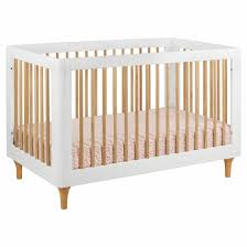 crib natural wood andersen crib maple the land of nod