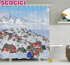 Scandinavian Shower Curtain by Compare Prices On Greenland Online Shopping Buy Low Price