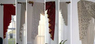 Swag Curtains For Living Room Custom Window Sconces I Swag Curtains I Cascades Windows Dressed Up