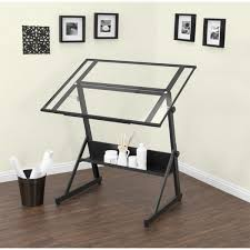 Drafting Table Ls Studio Designs Solano Adjustable Glass Top Drafting Table Free