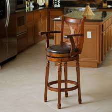 Wooden Swivel Bar Stool Best Selling Eclipse Armed Swivel Bar Stool Brown