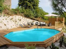 piscine bois octogonale safran sunbay 6 37x4 12 m x h 1 33 m