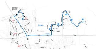 Dublin Bart Map by Route 501 Positano U0026 Valentano To Dublin High