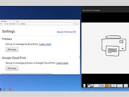 how to print to a local network printer from a chromebook