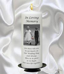 Wedding Memorial Young Love Black Script Wedding Memorial Candle White