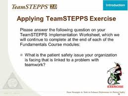 teamstepps fundamentals course module 1 introduction agency
