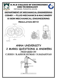 anna university two mark qustions with answers for fluid mechanics an u2026
