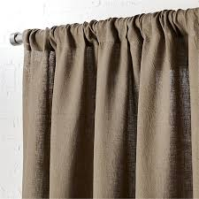 taupe linen curtain panel 48