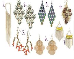 styles of earrings style series fall trends part 3 statement earrings prints