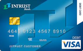 debit card debit cards intrust bank