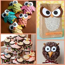 owl baby shower cupcake toppers home party theme ideas