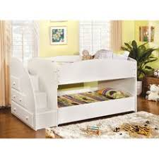 staircase bunk bed white waxed built in storage steps bedtime