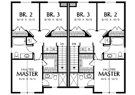 family floor plans narrow lot multi family home 69464am architectural designs