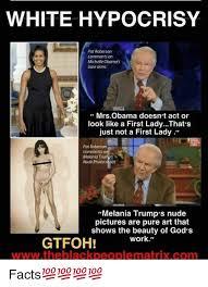 Meme Michelle Obama - white hypocrisy pat roberson comments on michelle obama s bare arms