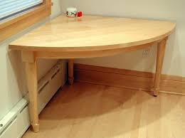 hand made 2 person quarter circle kitchen corner table by kieffer
