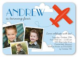 phenomenal plane 5x7 invitation boy birthday invitations