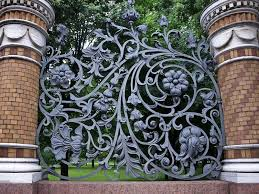 wrought iron fences garden bitdigest design ideal privacy