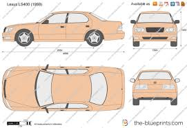 lexus ls400 2001 the blueprints com vector drawing lexus ls400