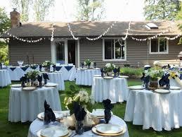 Backyard Wedding Reception by Back Yard Wedding Setup For A Small Ceremony Back Yard Wedding