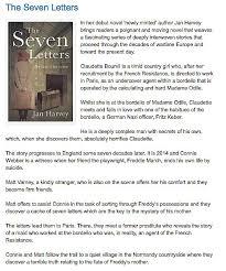 the seven letters matador fiction jan harvey
