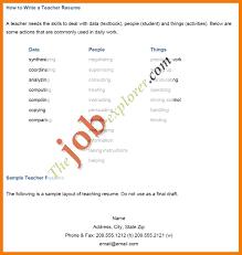 Resume Sample For Teacher Job by Resume Writing For Teaching Job Resume For Your Job Application