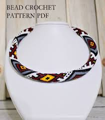 beaded necklace rope images Pdf necklace pattern beaded tutorial pdf beaded rope pattern etsy jpg