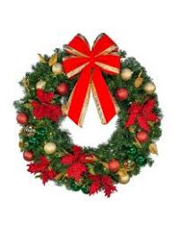 pre lit decorated wreaths