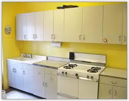Old Kitchen Cabinet Makeover Metal Kitchen Cabinets Makeover Home Design Ideas