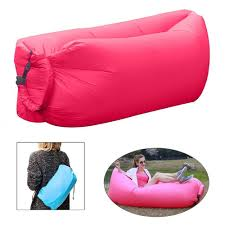 Hammock Air Chair Banana Bed Air Lounger Fast Inflatable Air Bag Bed Sofa Couch