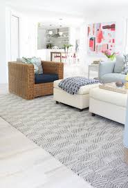 Cottage Rug Modern Beach Cottage Makeover Family Room The House Of Silver