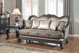 Formal Living Room Couches by Traditional Formal Living Room Loveseat Dark Wood Frame 618