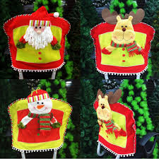 Snowman Chair Covers Deer Christmas Decorations Christmas Lights Decoration