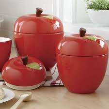 apple canisters for the kitchen 3 piece apple canister set kitchen essentials pinterest