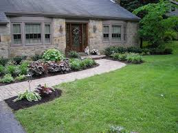 Home Backyard Landscaping Ideas by Front Walk Landscape Idea Landscape Design Ideas Beautiful