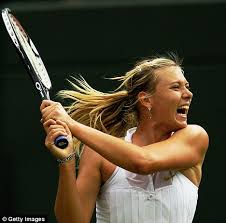 Maria Sharapova, world class tennis champion