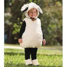 sheep costume lambchop costume sheep fleece fancy dress chop boys