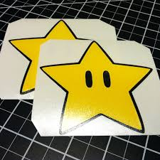 super star mario decal quality car stickers wall decals mario star decals