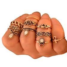 midi ring set flower midi ring set for women uhsupply