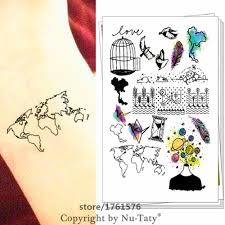 World Map Tattoo Online Buy Wholesale Map Tattoos From China Map Tattoos