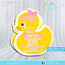 duck baby shower invitations rubber duck invitations baby shower boy girl baby ducky