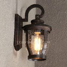 metal fixture glass outdoor lighting wall sconces